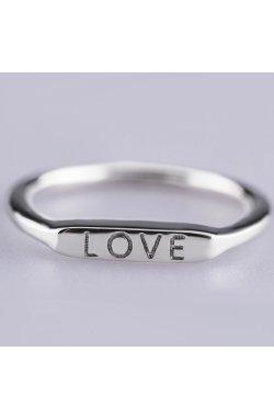 Серебряное minimal кольцо love из родированного серебра 925-й пробы (112 2)