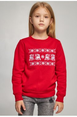 Рождественский свитшот для девочек с Оленями