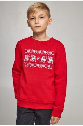 Рождественский свитшот для мальчиков с оленями