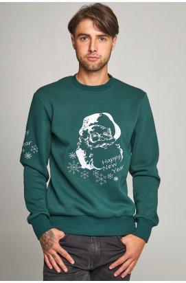 Новогодний мужской свитшот c Дедом Морозом 2