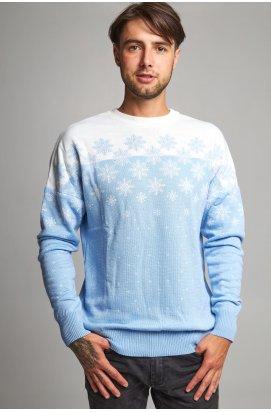 Новорічний в'язаний светр чоловічий з зірками