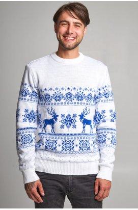 Новорічний в'язаний чоловічий светр з Оленями 7