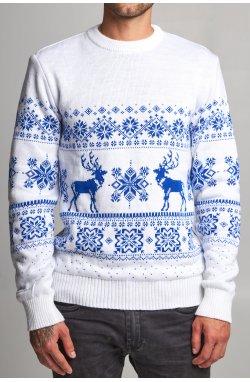 Новогодний вязаный свитер с Оленями 7
