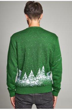 Новогодний вязаный свитер с Оленями 4
