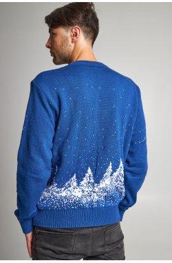 Новогодний вязаный свитер с Оленями 3