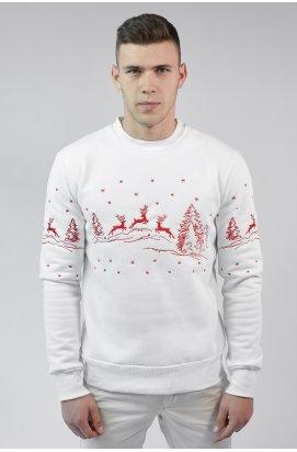 Різдвяний чоловічий світшоти з Оленями White