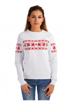 Женский рождественский свитшот с оленями