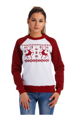 Рождественский женский свитшот с Оленями