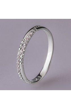 Золотое кольцо нежность фианитов белое золото 15 из белого золота 585-й пробы с куб. циркониями (1 94)