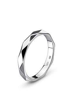 Золотое граненое кольцо из белого золота 585-й пробы (11 614)
