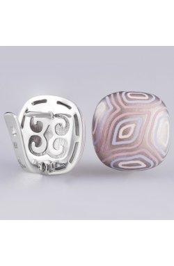 Серьги радужная геометрия серебро из родированного серебра 925-й пробы (282 52 2)