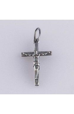 Серебряный крестик образ иисуса христа из родированного серебра 925-й пробы (31 37 )