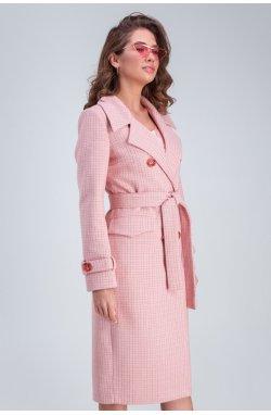 Пальто Бруна розовый