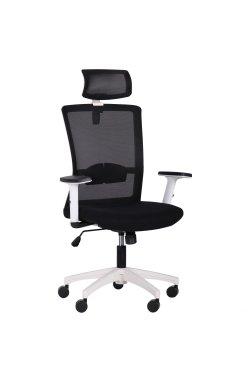Кресло Uran White HR сиденье Сидней-07/спинка Сетка HY-100 черная - AMF - 297454