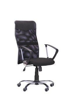 Кресло Ultra Хром сиденье А-1/спинка Сетка черная, вставка Скаден черный - AMF - 210149