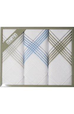 Мужские хлопковые носовые платки MARVIN Mink 92-09