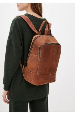 Женский рыжий кожаный рюкзак TARWA RB-2008-3md среднего размера