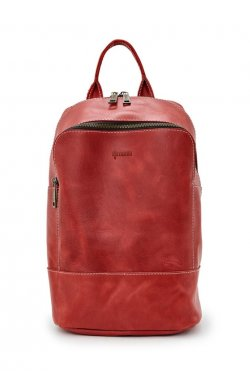 Женский красный кожаный рюкзак TARWA RR-2008-3md среднего размера
