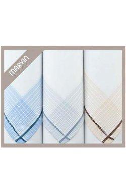 Мужские хлопковые носовые платки MARVIN Mink 92-06