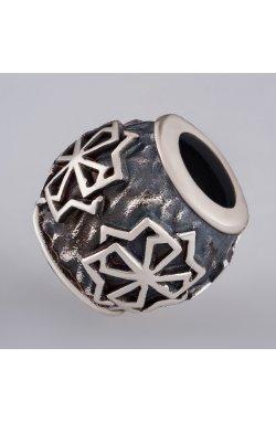 Бусина для браслета из серебра из родированного серебра 925-й пробы (81 91 )