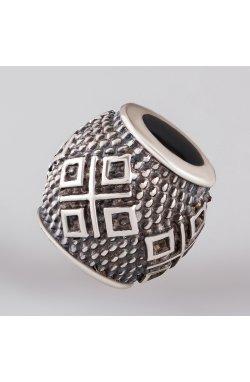 Серебряная бусина для браслета из родированного серебра 925-й пробы (81 90 )
