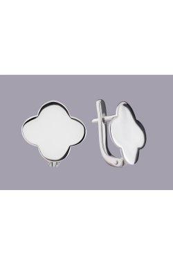 Серьги клевер серебро из родированного серебра 925-й пробы ( 43 )