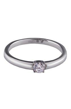 Помолвочное кольцо грация любви из серебра из родированного серебра 925-й пробы с куб. циркониями (1 240 )