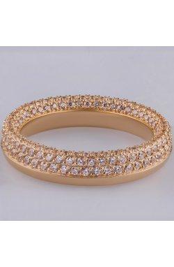 Золотое кольцо дорожка с россыпью камней 15 из красного золота 585-й пробы с куб. циркониями (1 3323)
