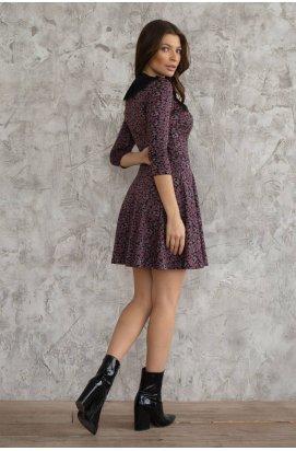 Платье 3067-c01 - Синий Принт