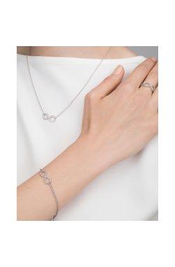 Срібний браслет постійність з діамантами из родированного серебра 925-й пробы с бриллиантом (551410 )