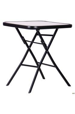 Стол Mexico черный, стекло Волна - AMF - 546821