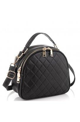 Кожаная черная женская сумка Riche NM20-W323A - натуральная кожа, черный