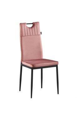 Стул обеденный Alabama черный/велюр розовый антик - AMF - 546791