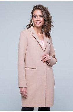 Пальто женское Бьянка бежевый - демисезон