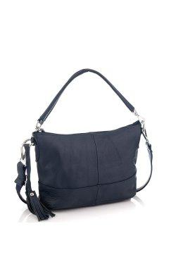 Кожаная женская сумка синяя Riche NM20-W891BL - натуральная кожа, синий