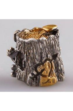 Срібний шарм підвіска лісове диво из родированного серебра 925-й пробы (81 28 )