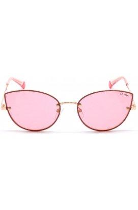 Солнцезащитные очки женские Polaroid PLD4092/S-EYR-0F - кошечки, Цвет линз - розовый