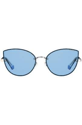 Солнцезащитные очки женские Polaroid PLD4092/S-KUF-C3 - кошечки, Цвет линз - розовый