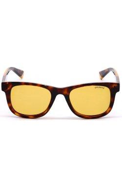 Солнцезащитные очки женские Polaroid PLD8009/N-HJV-HE - wayfarer, Цвет линз - желтый