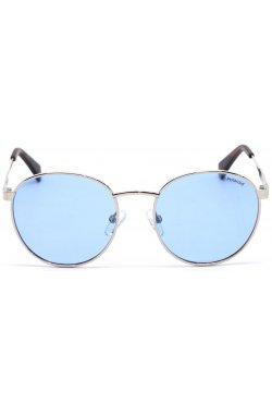 Солнцезащитные очки женские Polaroid PLD8039/S-010-C3 - круглые, Цвет линз - голубой