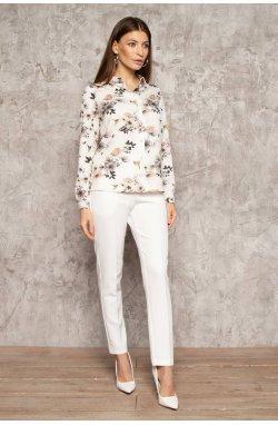 Рубашка 3087-PW01 - Молочний/принт