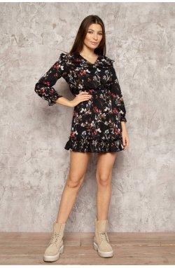Платье 3081-c01 - Чорний/Принт
