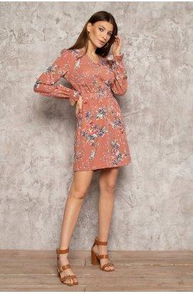 Платье 3082-c01 - Персик/Принт