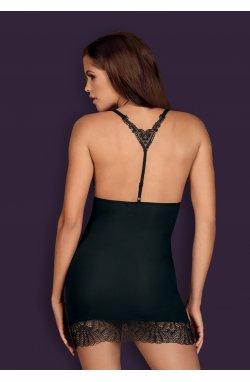 Chiccanta сорочка чорна Obsessive (S/M)