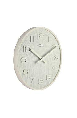 """Часы настенные """"Wood Wood Medium"""", белые - wws-593"""