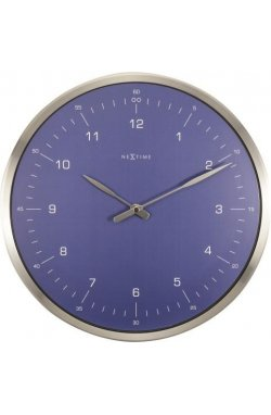 """Часы настенные """"60 Minutes"""", синие - wws-816"""