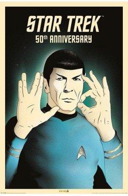 """Постер """"Star Trek (Spock 5-0) 50th Anniversary"""" 61 x 91,5 см - wws-4150"""