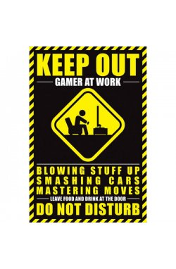 """Постер """"Gamer At Work"""" 61 x 91,5 cм - wws-5984"""