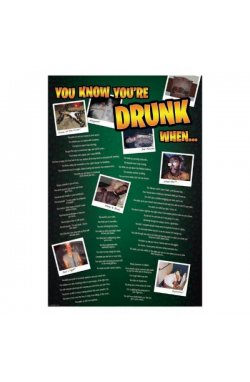 """Постер """"You know you are drunk when"""" 61 x 91,5 см - wws-7133"""
