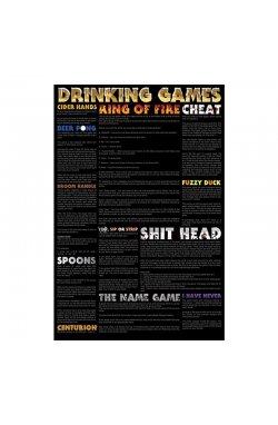 "Постер ""Drinking Games"" 61 x 91,5 см - wws-7143"